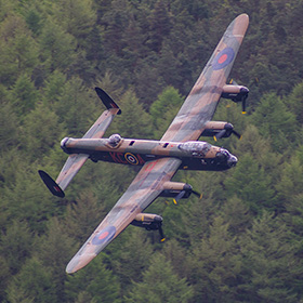 70th Anniversary Fly Past of the Dambusters over Derwent